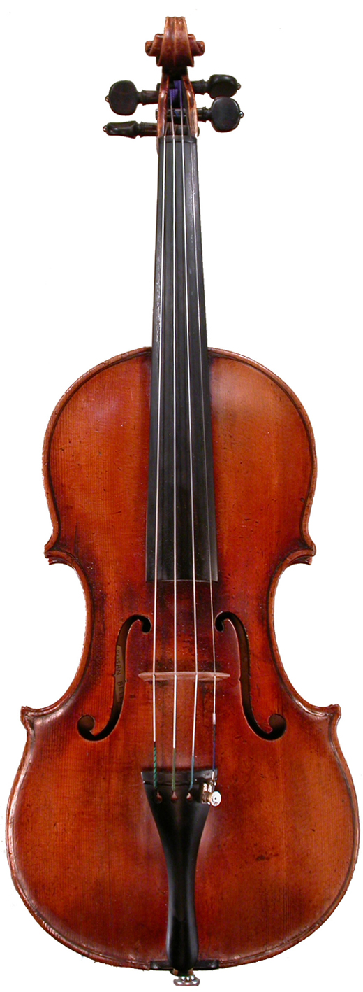 An image of a violin, the circa 1700 Bell Giovanni Tononi violin