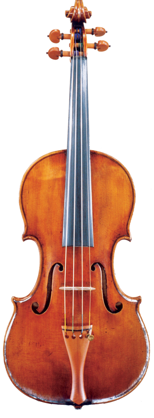 An image of a violin, the 1700 Taft Stradivarius violin