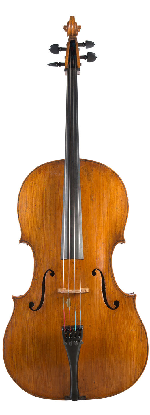 Image of a cello, a 1702 Giovanni Grancino cello