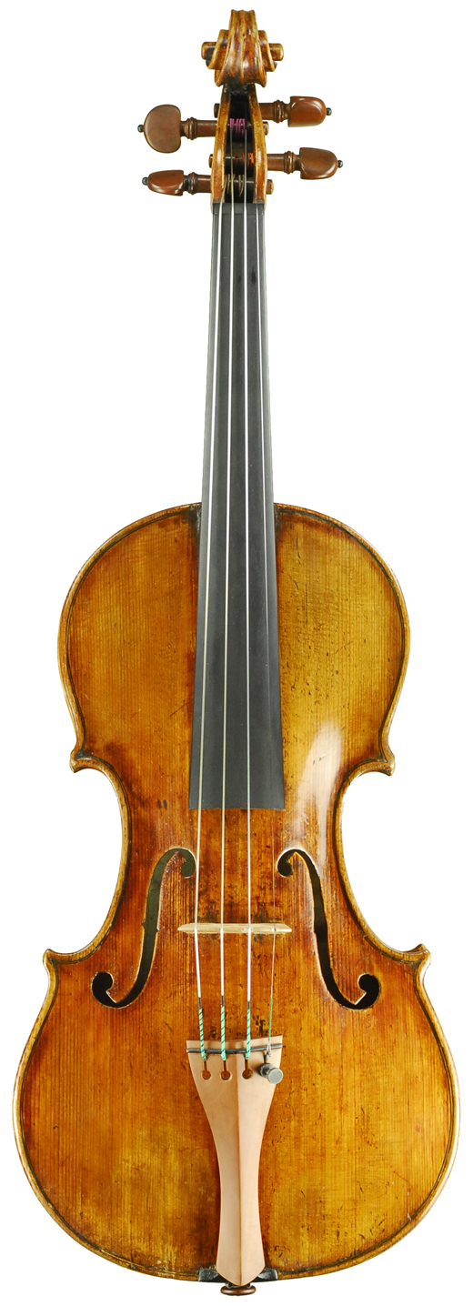 Image of a violin, the 1715 Dominicus Montagnana violin.