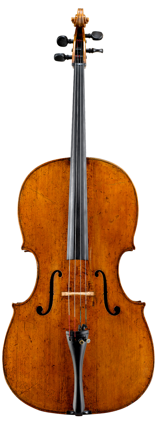 Image of a cello, the 1730 Newland Joannes Franciscus Celoniatus cello